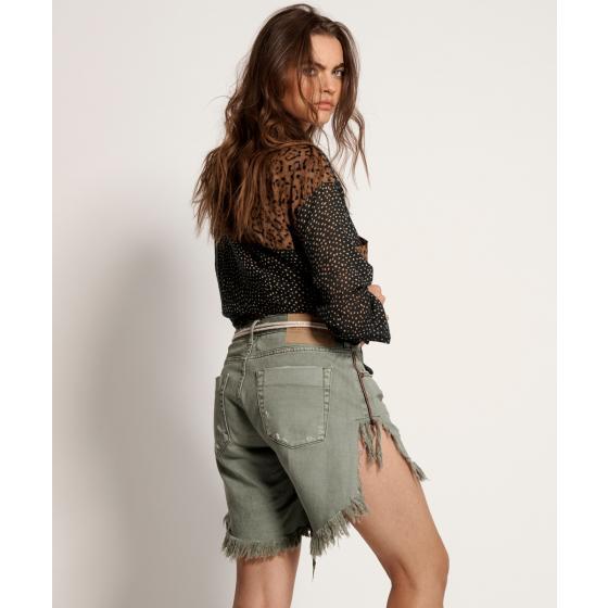 Oneteaspoon super khaki frankies long length denim shorts 22994-1