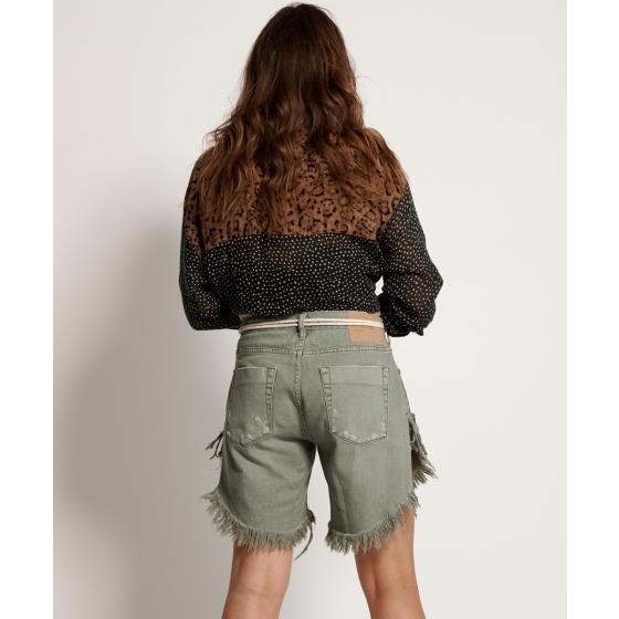 Oneteaspoon super khaki frankies long length denim shorts 22994-2