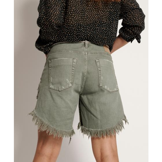 Oneteaspoon super khaki frankies long length denim shorts 22994-3
