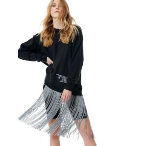 LIBELLOULA BLACK SILVER SWEATER 218-2-03-0000