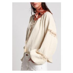 ONETEASPOON EMBROIDERED STONE FAUSTIAN PEASANT TOP 23247
