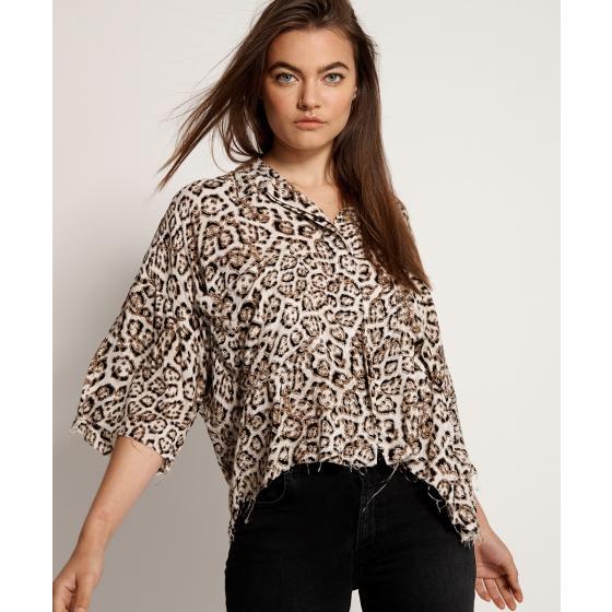 Oneteaspoon stone leopard montego bay shirt 23390-1