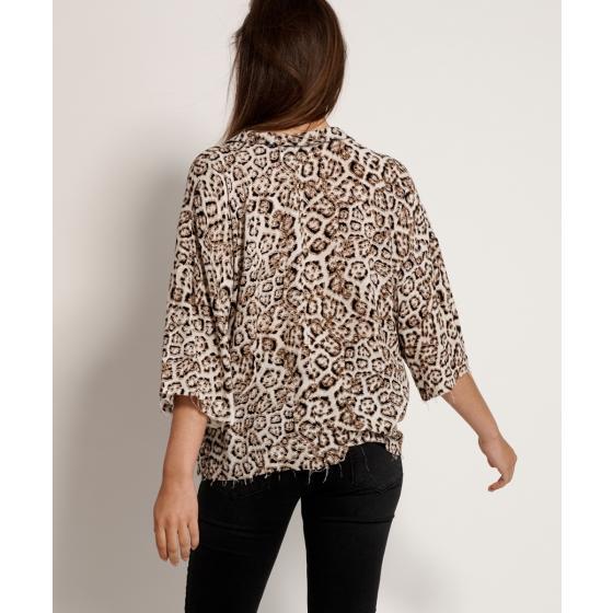 Oneteaspoon stone leopard montego bay shirt 23390-2