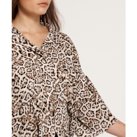 Oneteaspoon stone leopard montego bay shirt 23390-3