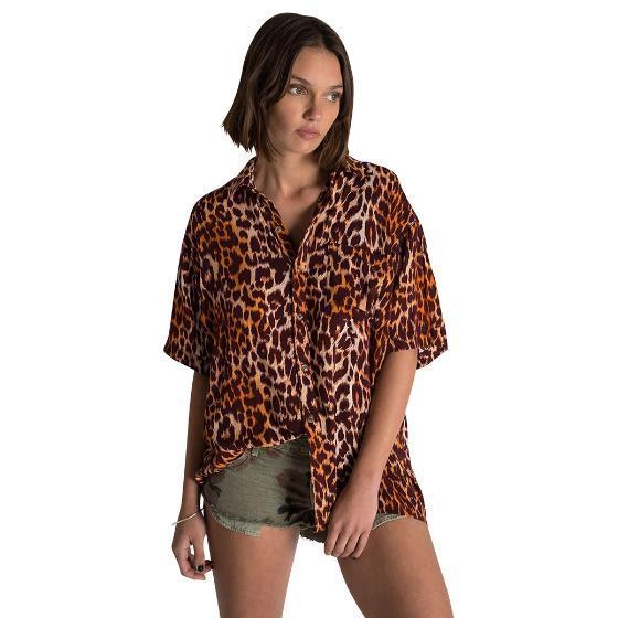 Oneteaspoon polynesian animal print shirt 23354-0