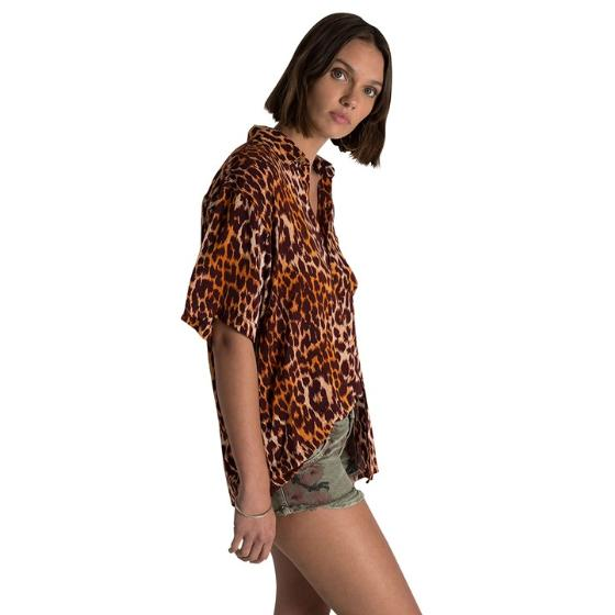 Oneteaspoon polynesian animal print shirt 23354-1
