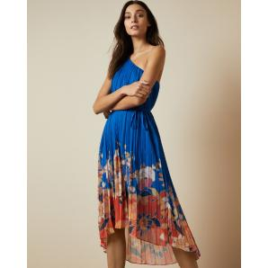 Ted Baker DAHLARI Cabana pleated one shoulder midi dress