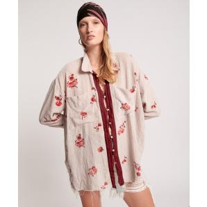 ONETEASPOON WESTERN ROSE LONGLINE SHIRT 24196