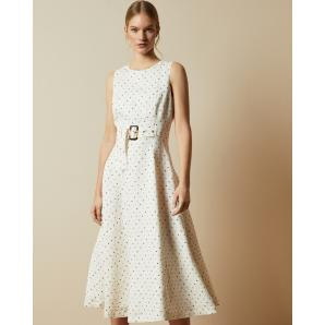 Ted Baker CARYLA Spotted A-line midi dress