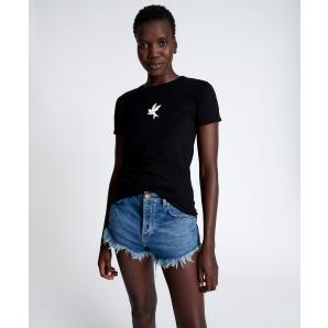 ONETEASPOON WASHED BLACK FITTED BOWER BIRD ORGANIC TEE