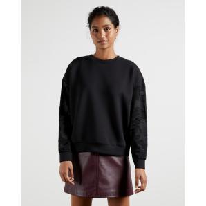 TED BAKER Sweatshirt with floral sleeves 243348