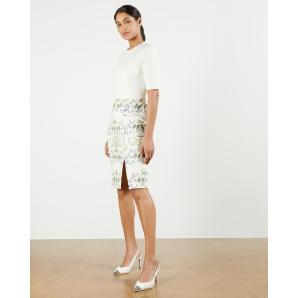 TED BAKER Papyrus Cap Sleeve Bodycon Dress 248277