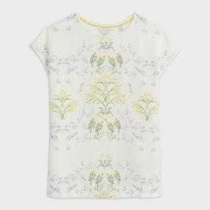 TED BAKER PAPYRUS PRINTED WOVEN FRONT T-SHIRT  249724