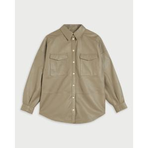 TED BAKER Oversized leather shirt 253342