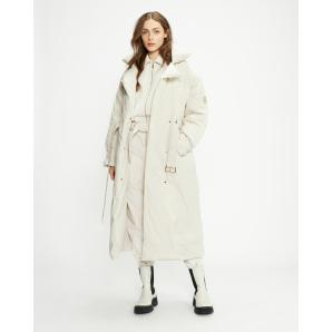 TED BAKER ALICCEE Long Belted Puffer Jacket