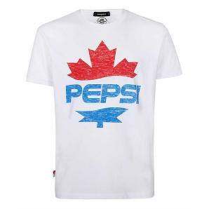 Dsquared2 S78GD0041 S22507 PEPSI T-shirt - White