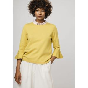 COMPANIA FANTASTICA YELLOW JUMPER WITH FLARED SLEEVES SP19DEJ05