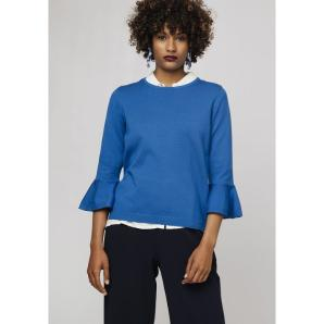COMPANIA FANTASTICA BLUE JUMPER WITH FLARED SLEEVES SP19DEJ06