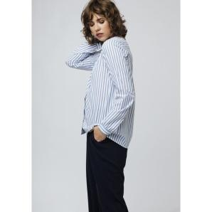 Compania fantastica blue striped blouse SP19SAM28