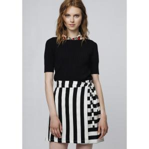 COMPANIA FANTASTICA SKIRT WITH VERTICAL STRIPES SP19SAM51