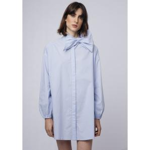 COMPANIA FANTASTICA BLUE OVERSIZED BLOUSE SP19HAN15