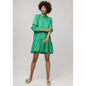 COMPANIA FANTASTICA GREEN LIGHTWEIGHT SHIRT DRESS SP19SAM55