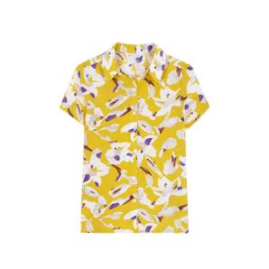 Compania fantastica yellow shirt with white flowers SS19HAN93