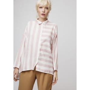 COMPANIA FANTASTICA OVERSIZE PINK STRIPED SHIRT SS19SAM14