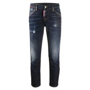 Dsquared2 Cool Girl Dark Night Red Spots Wash Cool Girl Cropped Jeans S75LB0351