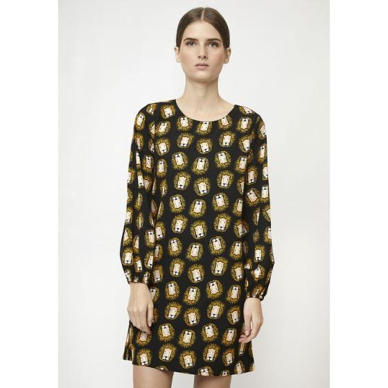 COMPANIA FANTASTICA LION SMOCK DRESS FA19SHE06-1