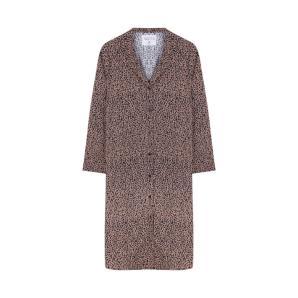 COMPANIA FANTASTICA BROWN ANIMAL PRINT SHIRT DRESS FA19COC07