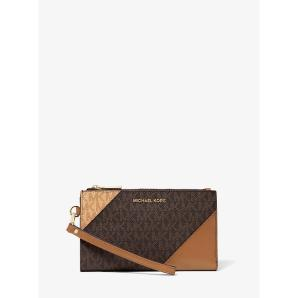 MICHAEL MICHAEL KORS Adele Two-Tone Logo and Leather Smartphone Wallet 32S9GFDW3B