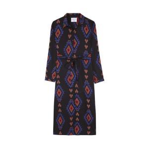 COMPANIA FANTASTICA BLACK ETHNIC SHIRT DRESS FA19SAM70