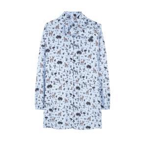 COMPANIA FANTASTICA SAFARI PRINT SHIRT DRESS FA19HAN68