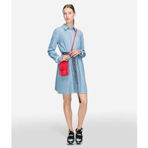 KARL LAGERFELD SHIRT DRESS WITH LOGO BELT 91KW1310