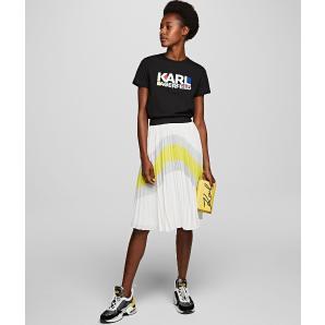 Karl Lagerfeld colour block pleated skirt 201W1202