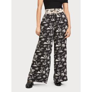 Maison Scotch printed pants