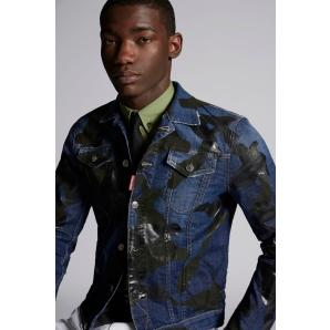DSQUARED2 Camouflage Dan Denim Jacket S74AM0911