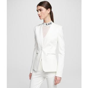 Karl Lagerfeld logo tape punto jacket 201W1406