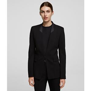 KARL LAGERFELD Punto Jacket With Satin Collar 206W1412-999