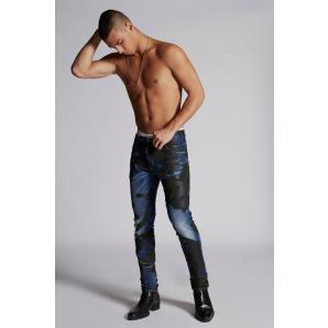 DSQUARED2 Camo Skater Jeans S74LB0508