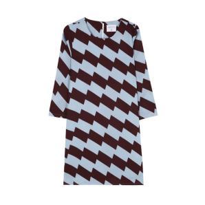 Compania fantastica short geometric pattern dress FA19HAN186