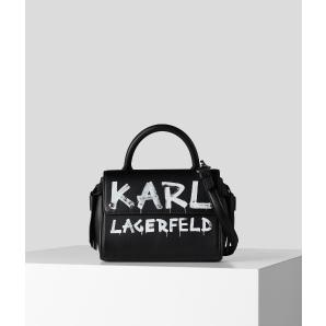 KARL LAGERFELD k/ikon graffiti mini top handle bag 206W3059