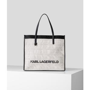 KARL LAGERFELD K/SKUARE BLACK AND WHITE TOTE 211W3022