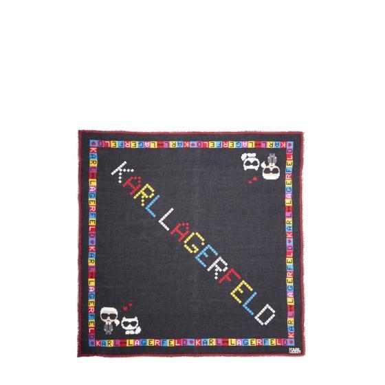Karl Lagerfeld k/ikonic pixel scarf 201W3314-0