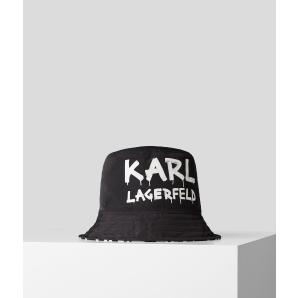 KARL LAGERFELD karl graffiti bucket hat 206W3411