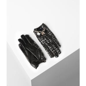 KARL LAGERFELD k/soho tweed gloves 206W3607