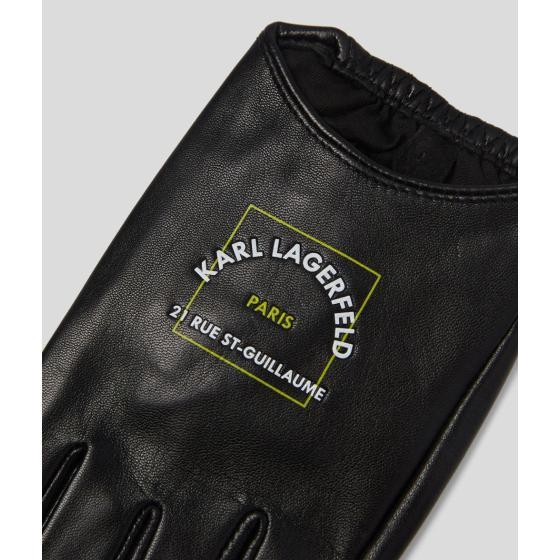 KARL LAGERFELD RUE ST-GUILLAUME FINGERLESS GLOVES 215W3605-2