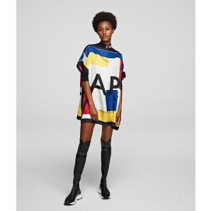 Karl Lagerfeld silk scarf tunic 201W1617