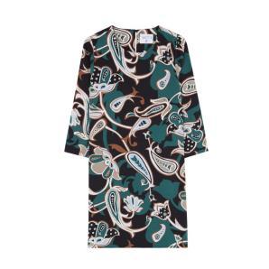 COMPANIA FANTASTICA GREEN FLOWER DRESS WI19HAN172
